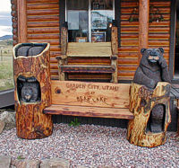 Beehive Bears Carving Chainsaw Carved Wood Bears Wood